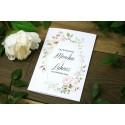 Zaproszenie na ślub - Listki V18 - 8 wzorów