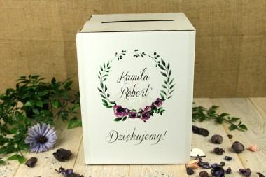 Pudełko na koperty V12  - fiolet